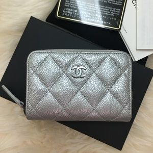 Chanel Classic Zip Around Card Holder Case